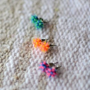 Jewelry - lot of 3 pairs neon acrylic earrings